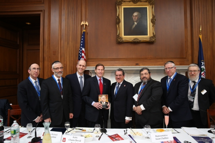 Rabbi Shlomo Gertzulin, Rabbi Chaim Dovid Zwiebel, Shragi Goldschmidt,Senator Richard Blumenthal, Shlomo Werdiger, Rabbi Abba Cohen, Rabbi Yosef Chaim Golding, Rabbi Leibish Becker, , , ezra friedlander