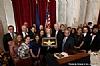 Homeland Security Chairman  Senator Ron Johnson presents Judith Alter Kallman, author of