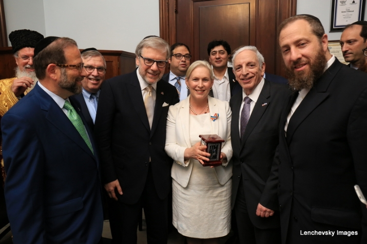 Leon Goldenberg, Sol Goldner, US. Senator Kirsten Gillibrand, Joseph B. Stamm, Ezra Friedlander, , , ezra friedlander