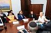 Bukharian Chief Rabbi Itzhak Yehoshua, Leon Goldenber, Ezra Friedlander, US Senator Kirsten Gillibrand, Joseph B. Stamm, Sol Goldner