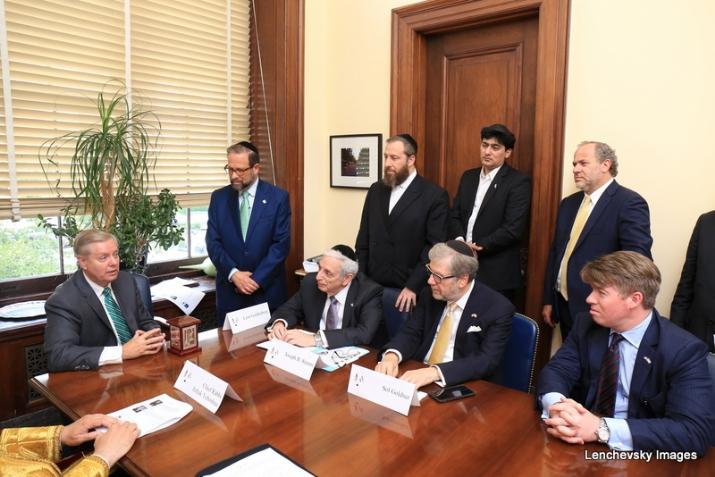 Bukharian Chief Rabbi Itzhak Yehoshua, U.S. Lindsey Graham, Joseph B. Stamm, Sol Goldner, Leon Goldenberg, Ezra Friedlander, , , ezra friedlander