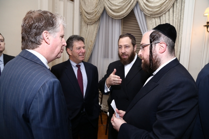 Manhattan DA Cy Vance, Jeff Schlanger Chief of Staff, Ezra Friedlander – CEO – The Friedlander Group, Rabbi Abe Friedman, , , ezra friedlander