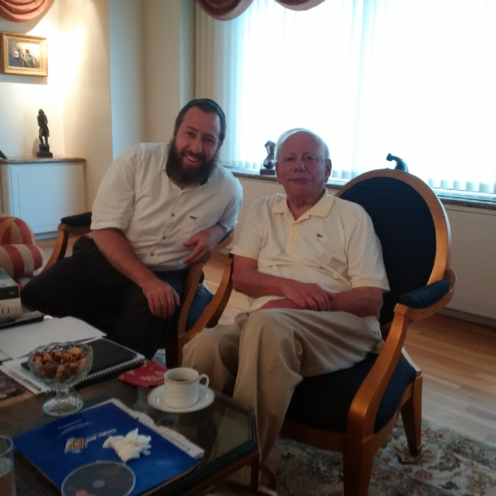 Ezra Friedlander with Sigmund Rolat - founding donor of Polin, The Museum of the History of Polish Jews, Sigmund Rolat, , ezra friedlander