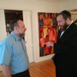 Ezra Friedlander with Chief Rabbi of Poland Rabbi Schudrick, Michael Schudrich