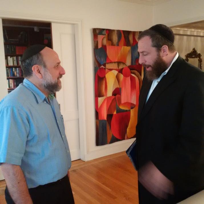 Ezra Friedlander with Chief Rabbi of Poland Rabbi Schudrick, Michael Schudrich, , ezra friedlander