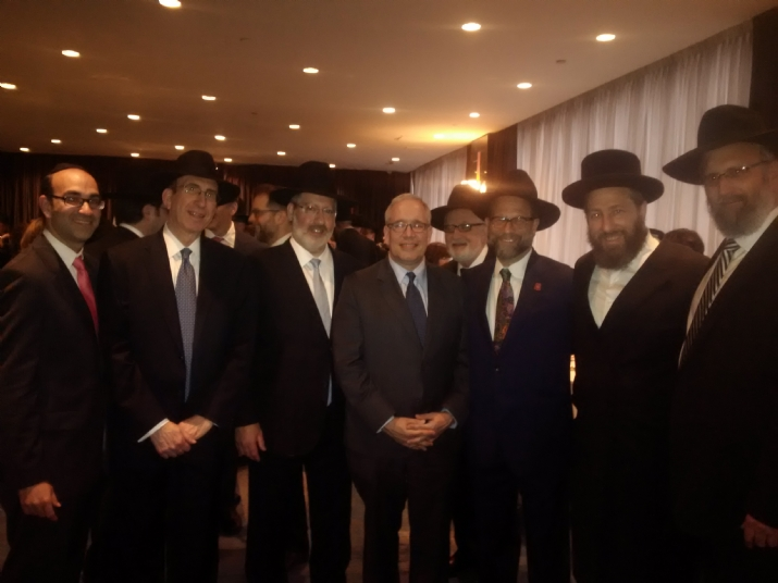 Rabbi Shlomo Gerzulin, Josh Mehlman, Scott Stringer, Leon Goldenberg, Ezra Friedlander, Rabbi Yeruchim Silber, , , ezra friedlander
