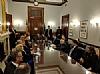 Around the table L-R: Gamal A. El Sadat, Gigi Gabr, Shafik Gabr, Mrs. Jehan Sadat, Ezra Friedlander, Isaac Dabah, Ivette Dabah, Mohamed Samir - Head of the Congressional Affairs - Embassy of Egypt, Leon Goldenberg, Chava Blau, Sergio Gor - Office of US Senator Rand Paul, Ambassador of Egypt to U.S. H.E. Yasser Reda, Joseph B, Stamm, Gil Kapen, Ms. Jehan Sadat