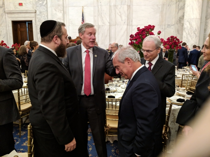 Ezra Friedlander, U.S. Representative Mark Meadows, Morton A. Klein - National President of the Zionist Organization of America, Isaac Dabah, , EzraFriedlander, ezra friedlander