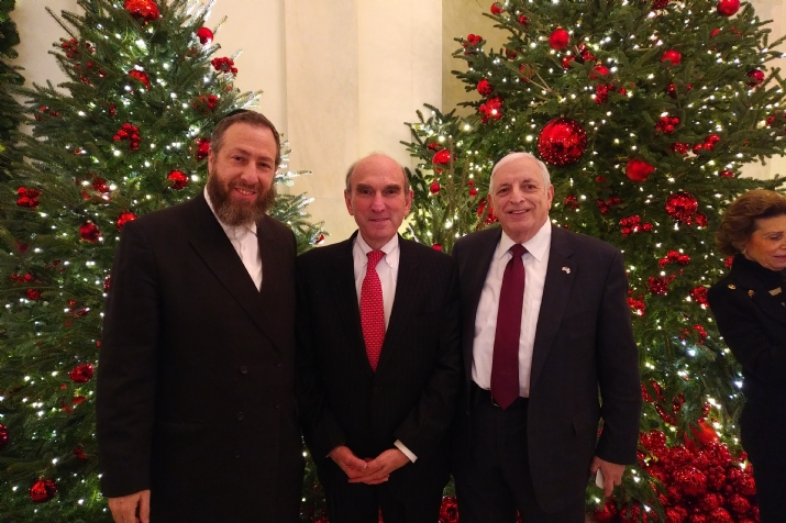 Ezra Friedlander, Former Deputy National Security Advisor Elliot Abrams, Joseph B. Stamm, , , ezra friedlander