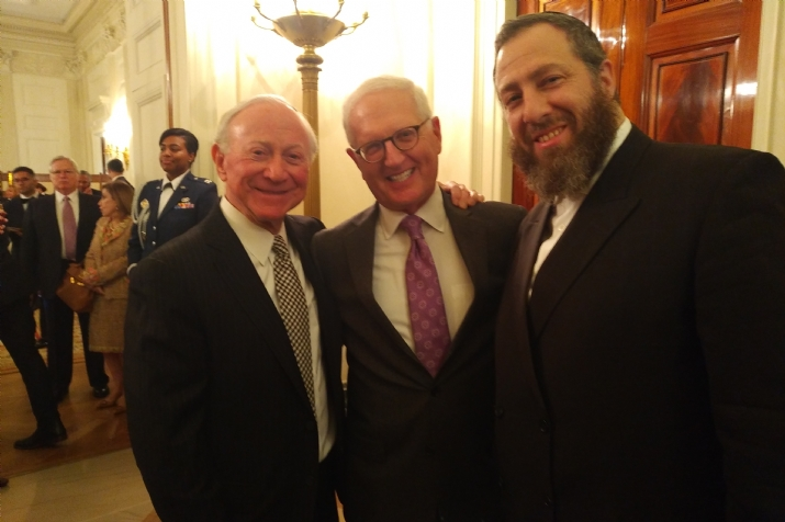 Larry Mizel, chairman Simon Wiesenthal Center, Howard Kohr, executive director AIPAC, Ezra Friedlander, , , ezra friedlander