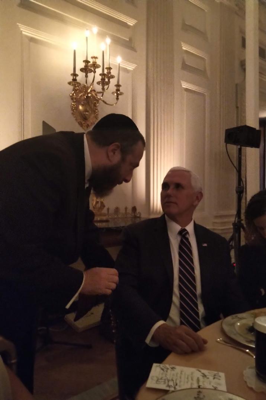 Ezra Friedlander, U.S. Vice President Mike Pence, Mike Pence, , ezra friedlander