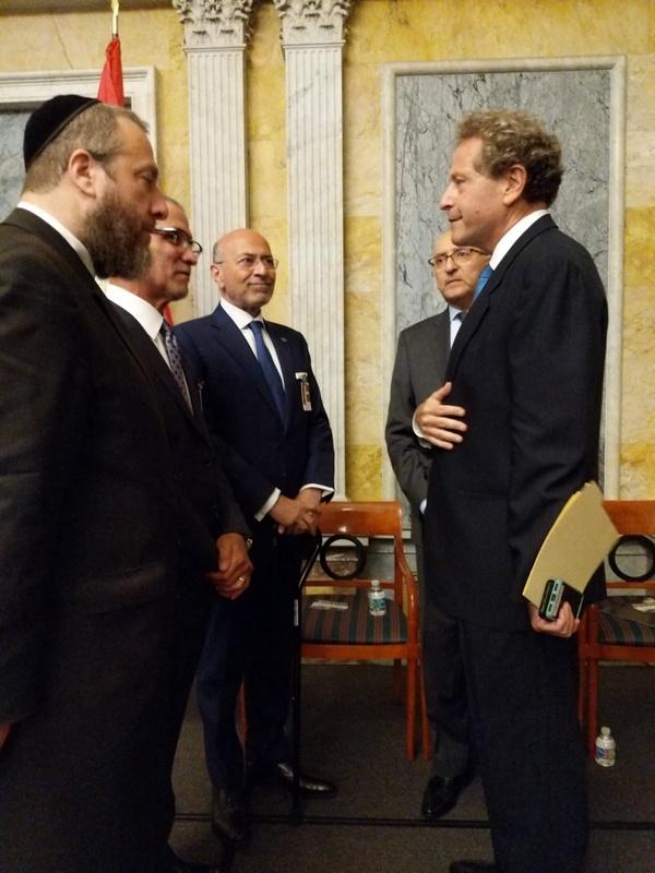Ezra Friedlander, Gamal Sadat, Shafik Gabr, Ambassador Yasser Reda, Assistant Secretary of the Treasury David Eisner, , , ezra friedlander