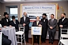 Naftali Tessler, Rabbi Berish Freilach, Rabbi Yeruchim Silber, Representative Jerrold Nadler speaking, Joel Freund, NYC Councilmember Brad Lander, Ezra Friedlander