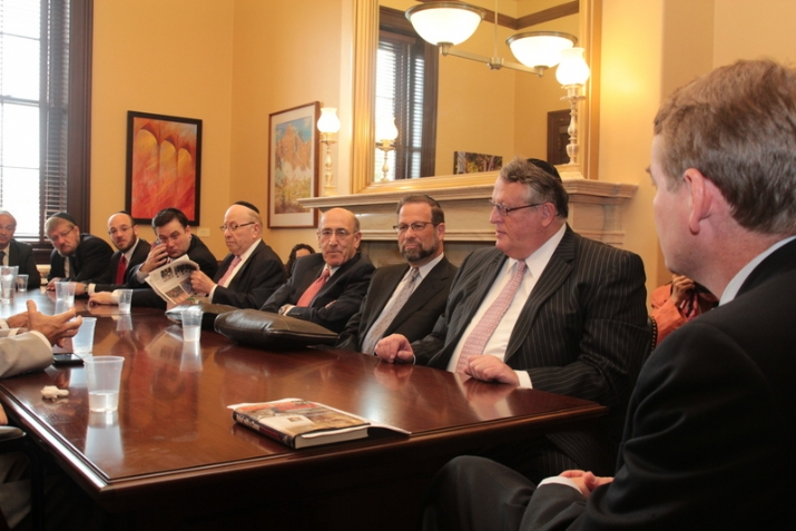 Board Members with Senator Michael Bennet at a private meeting in the Senator's office, , , ezra friedlander