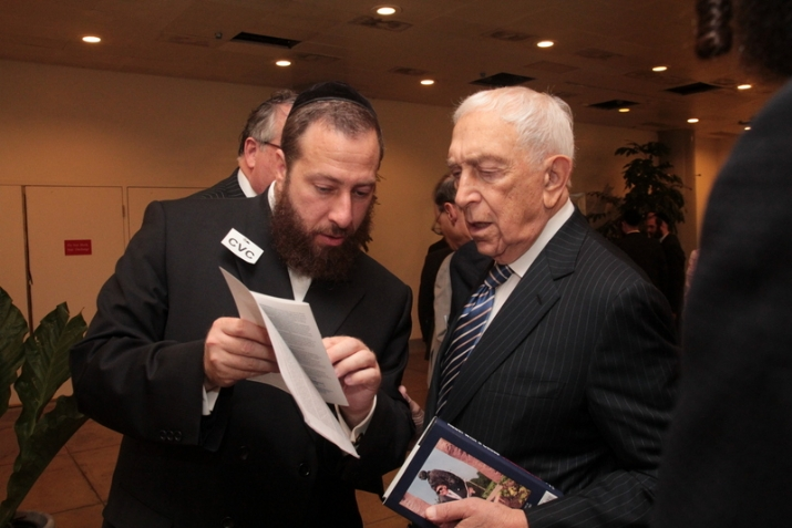 Ezra Friedlander with Senator Frank Lautenberg discussing the Wallenberg Gold Medal Legislation, Frank Lautenberg, Frank Lautenberg, ezra friedlander