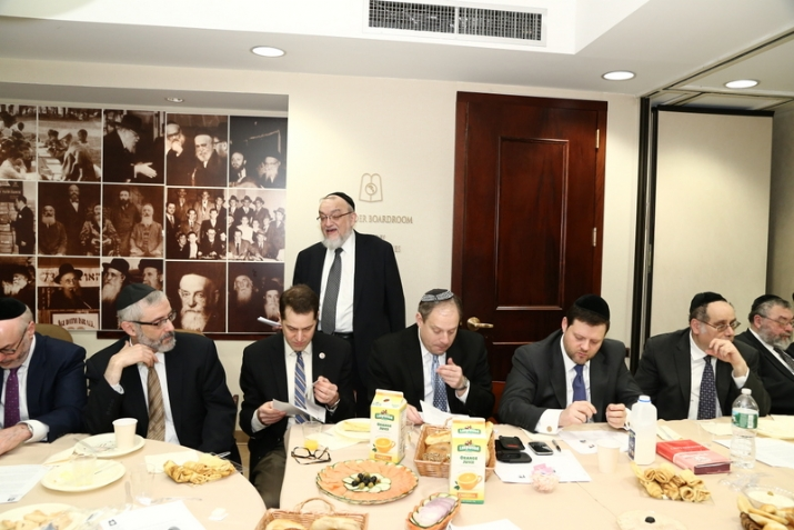 Rabbi Shmuel Lefkowitz, Agudah Israel's vice president for community services, , , ezra friedlander