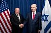 Hassan Ali Bin Ali with Israeli President Shimon Peres