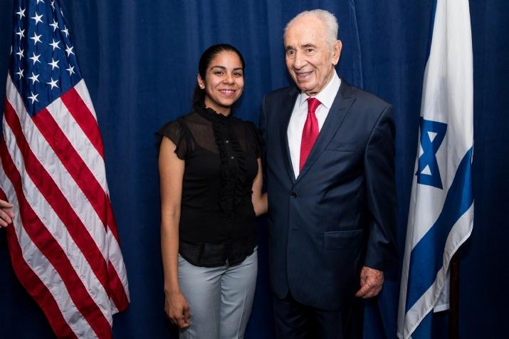Jasmine Calderone, Israeli Prime Minister Shimon Peres, , , ezra friedlander