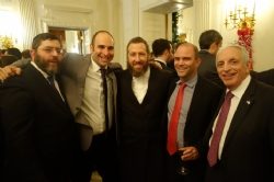 Rabbi Doniel Ginsberg, Jarrod Bernstein Senior Vice President of Marketing and Communications at CarePoint Health - former Associate Director of the White House Office of Public Engagement, Ezra Friedlander, Ben Rhodes - Deputy National Security Advisor for Strategic Communications for U.S. President Barack Obama, Joseph B. Stamm, BenRhodes