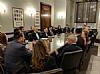 Ivette Dabah, Leon Goldenberg, Chava Blau, Sergio Gor - Office of US Senator Rand Paul, Jacob Olidort - Office U.S. Senate Pro Tempore Orrin Hatch, Chesky Blau, Ambassador of Egypt to U.S. H.E. Yasser Reda, Joseph B, Stamm, Gil Kapen, Mrs. Gamal El Sadat, Ambassador H. Russell Taub, Stanley Treitel Jack Avital, Ashraf Tarabany, Gamal A. El Sadat, Gigi Gabr, Shafik Gabr, Mrs. Jehan Sadat, Ezra Friedlander, Isaac Dabah