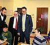 Councilmember Mark Levine visits Shema Kolainu, 11/3/2014