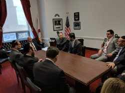 Delegation in discussion with U.S. Representative Brian Mast, EzraFriedlander