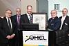 OHEL Co-President Mel Zachter, OHEL board member Elly Kleinman, Councilman David Greenfield, OHEL Co-President Moishe Hellman and Co-Chairman of the OHEL board Moshe Zakheim