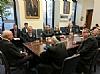 U.S. Senator Orrin Hatch, Sol Goldner, Ezra Friedlander, Chesky Blau, Maurice Bortz, Eli Katz, Reuvain Borhardt, Stanley Treitel, Peter Rebenwurzel, Joseph B. Stamm