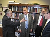 Comptroller Tom DiNapoli visits Touro College,