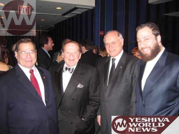 , Sheldon Adelson,MalcolmHoenlein,JerryNadler, , ezra friedlander
