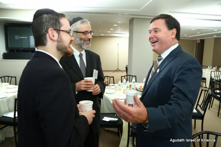 Rabbi David Zwiebel, Rabbi A. D. Motzen, Congressman Todd Rokita, , , ezra friedlander
