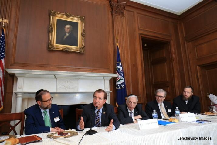 Leon Goldenberg, U.S. Representative Ed Royce, Joseph B. Stamm, Sol Goldner, Ezra Friedlander, , , ezra friedlander