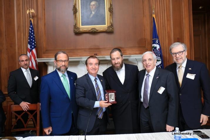 Leon Goldenberg, U.S. Representative Ed Royce, Ezra Friedlander, Joseph B. Stamm. Sol Goldner, , , ezra friedlander