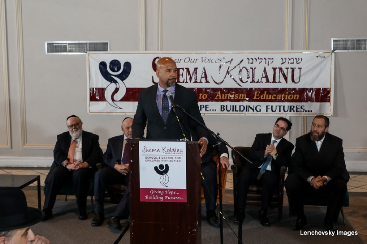 Dr. Joshua Weinstein, Menachem Lubinksy, Bronx Borough President Ruben Diaz Jr., NYC Councilmember Kalman Yeger, Ezra Friedlander, , , ezra friedlander