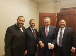 Ezra Friedlander, Leon Goldenberg, U.S. Senator Chuck Schumer, Chaskel Bennett, EzraFriedlander
