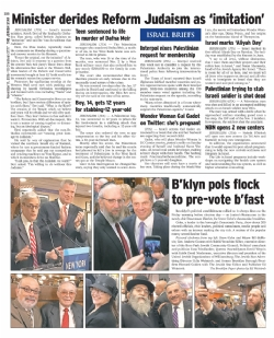The Jewish Star - November 11, 2016, EzraFriedlander