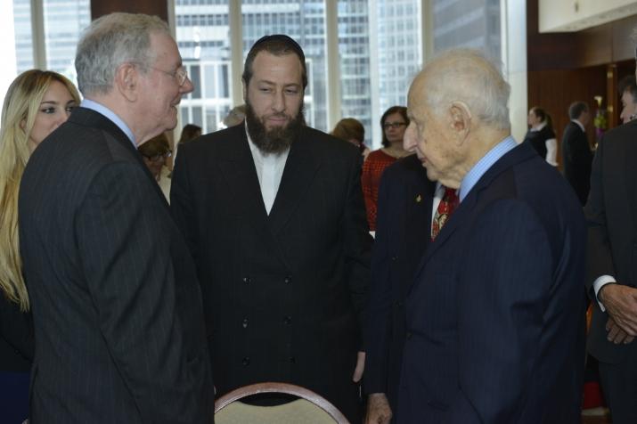 With former presidential candidate Steve Forbes and former Manhattan DA Robert Morgenthau, , , ezra friedlander
