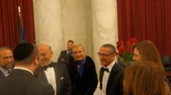 Leon Goldenberg, Ezra Friedlander, Shafik Gabr, Gigi Gabr, Gamal A. El Sadat, Mrs. Gamal Sadat, EzraFriedlander