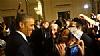 President Barack Obama talking to Lipa Schmeltzer