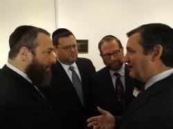 Ezra Friedlander, Chaskel Bennett, Leon Goldenberg, U.S. Senator Ted Cruz, Ted Cruz
