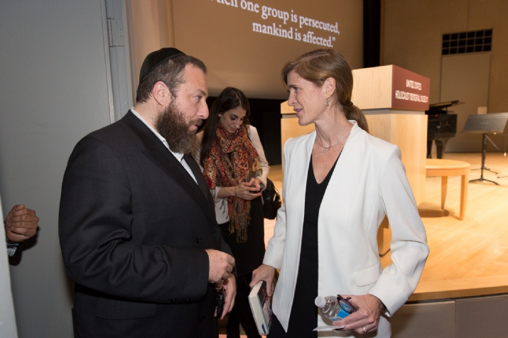 Ezra Friedlander, Ambassador Samantha Power, SamanthaPower, , ezra friedlander